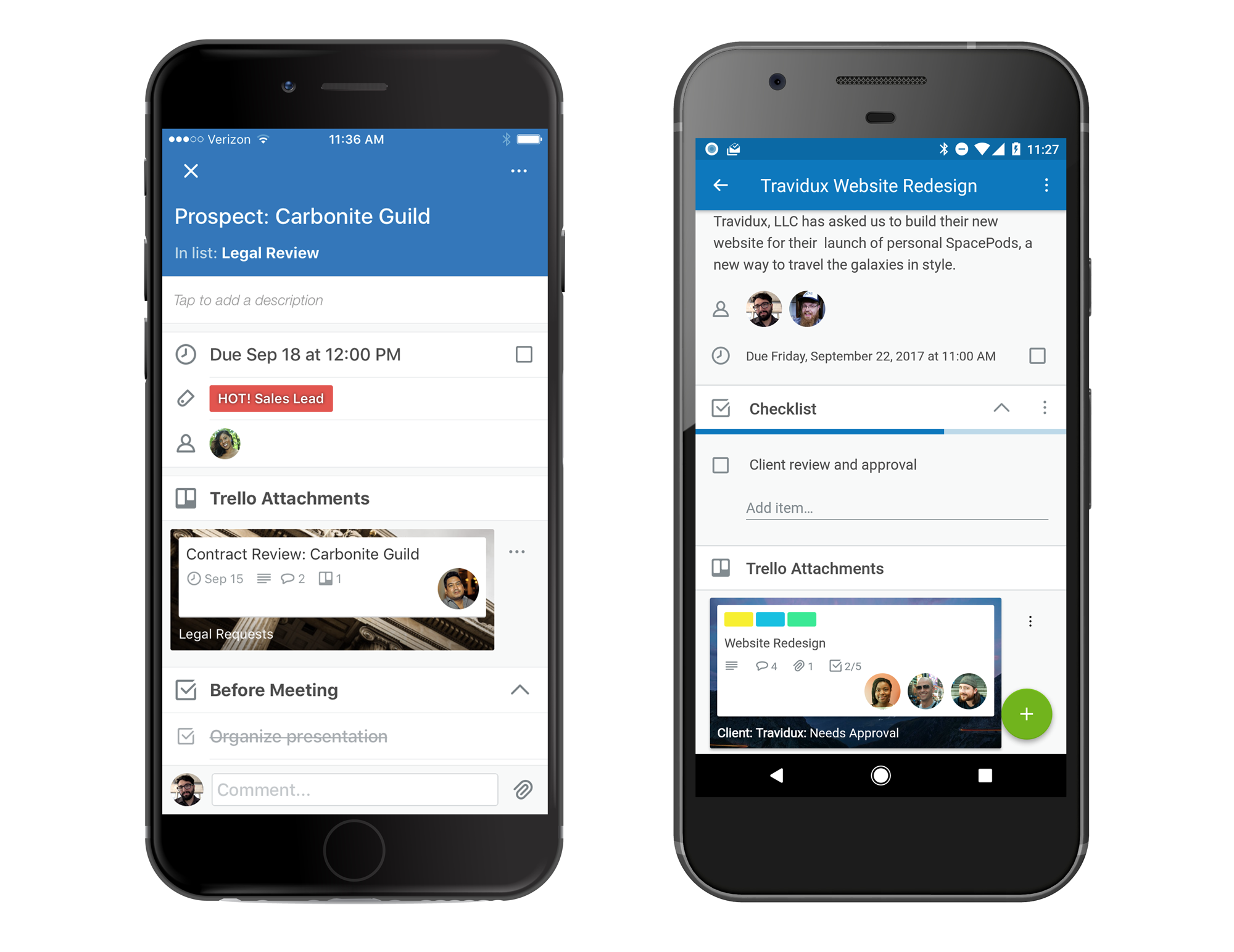 Trello Related Cards in iOS or Android