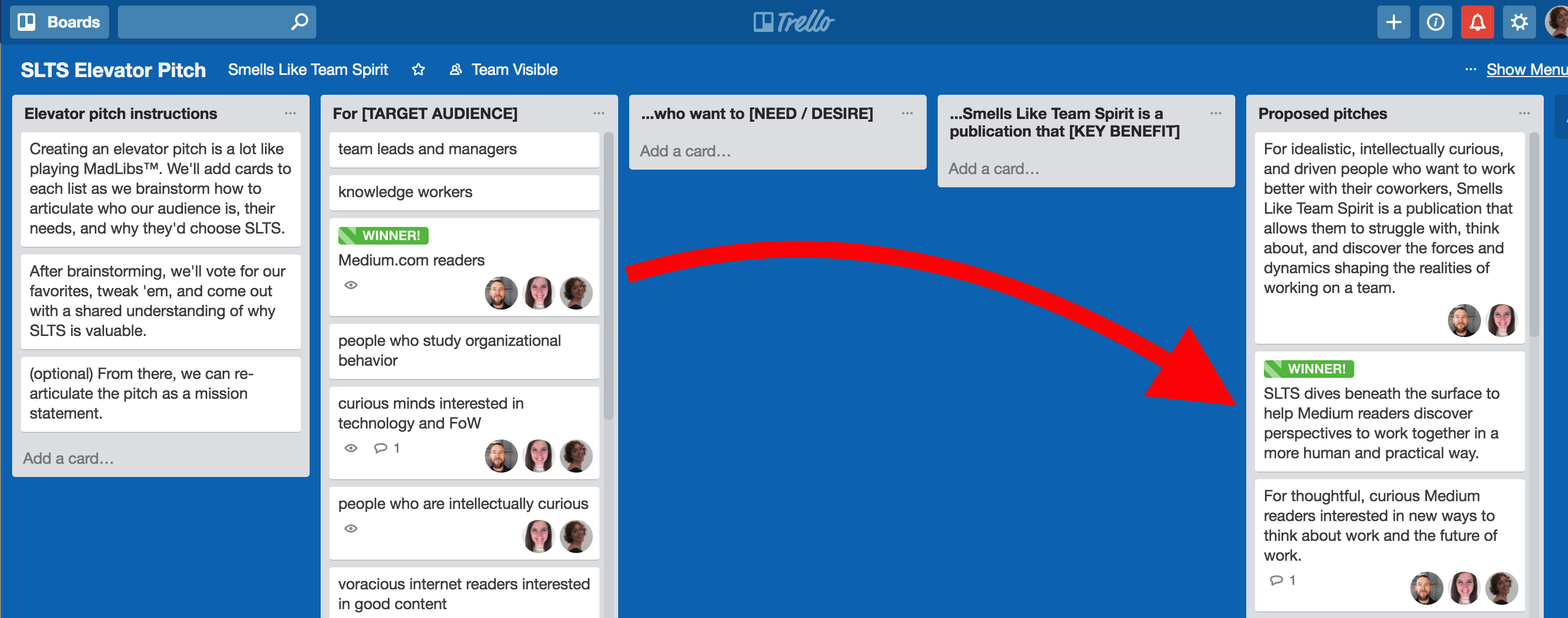 Make team decisions in Trello