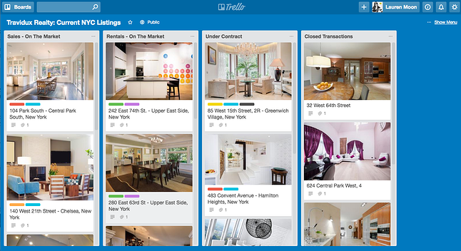 Sample Trello Real Estate board
