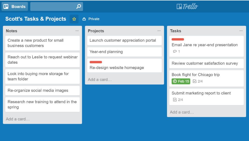 Trello Board To-Do List