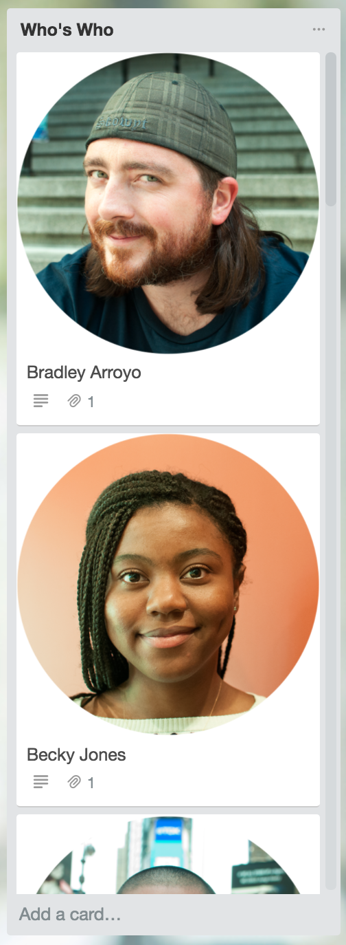 Help employees learn new co-worker names and roles during onboarding