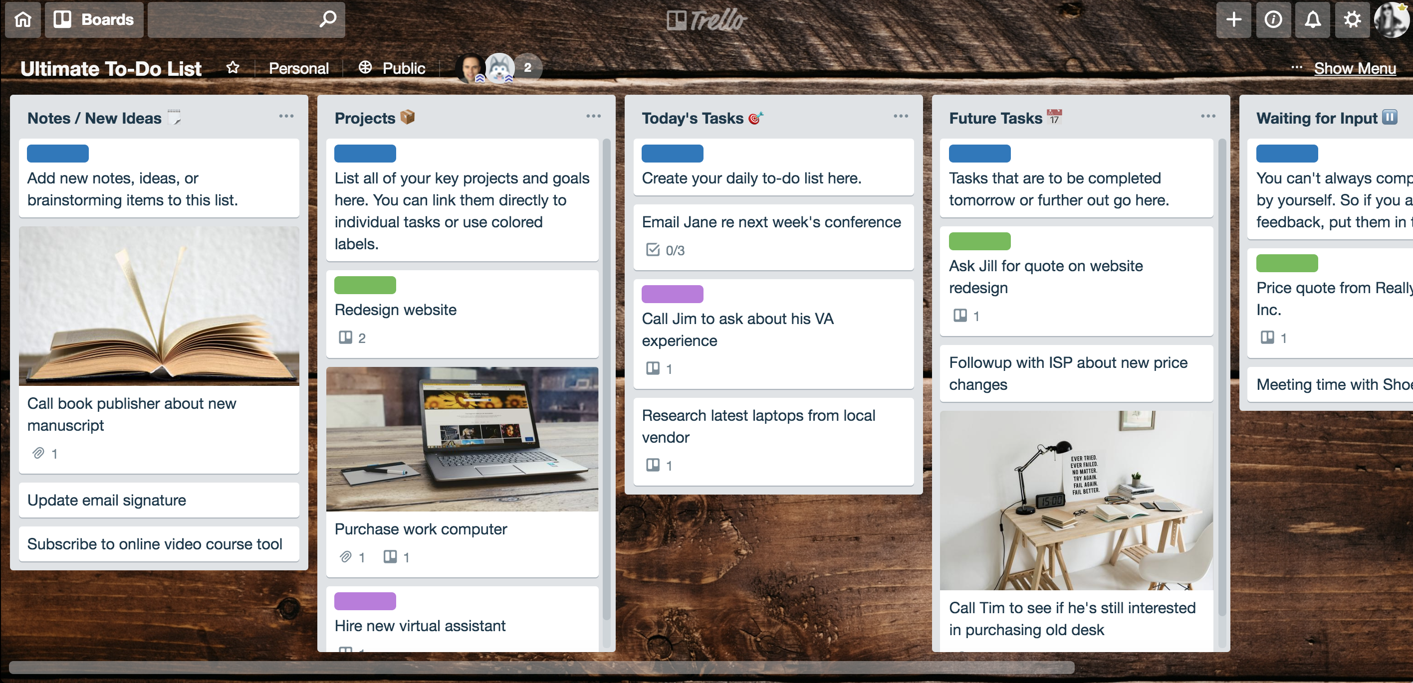ultimate to do list trello board