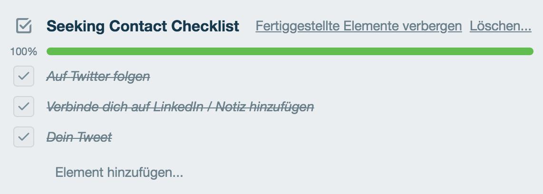 CRM checklisten