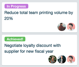 Labels in Trello can help keep statuses in view.