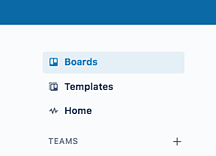 Side panel access to boards and templates in Trello