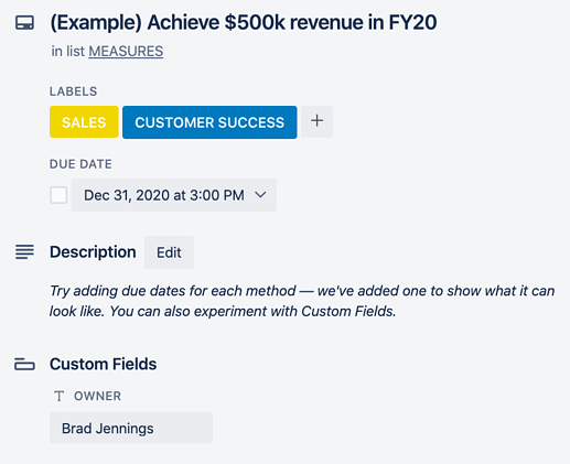 Back of Trello Car With Labels, Custom Field, Due Date