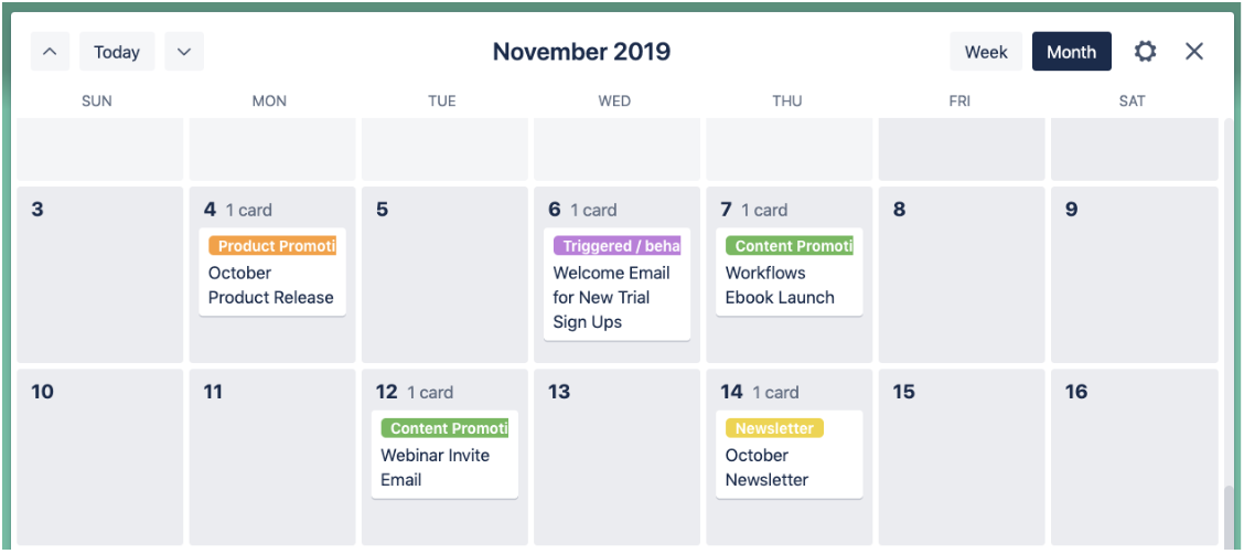 calendar view in trello