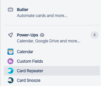 Trello Power-Ups unlimited in Business Class
