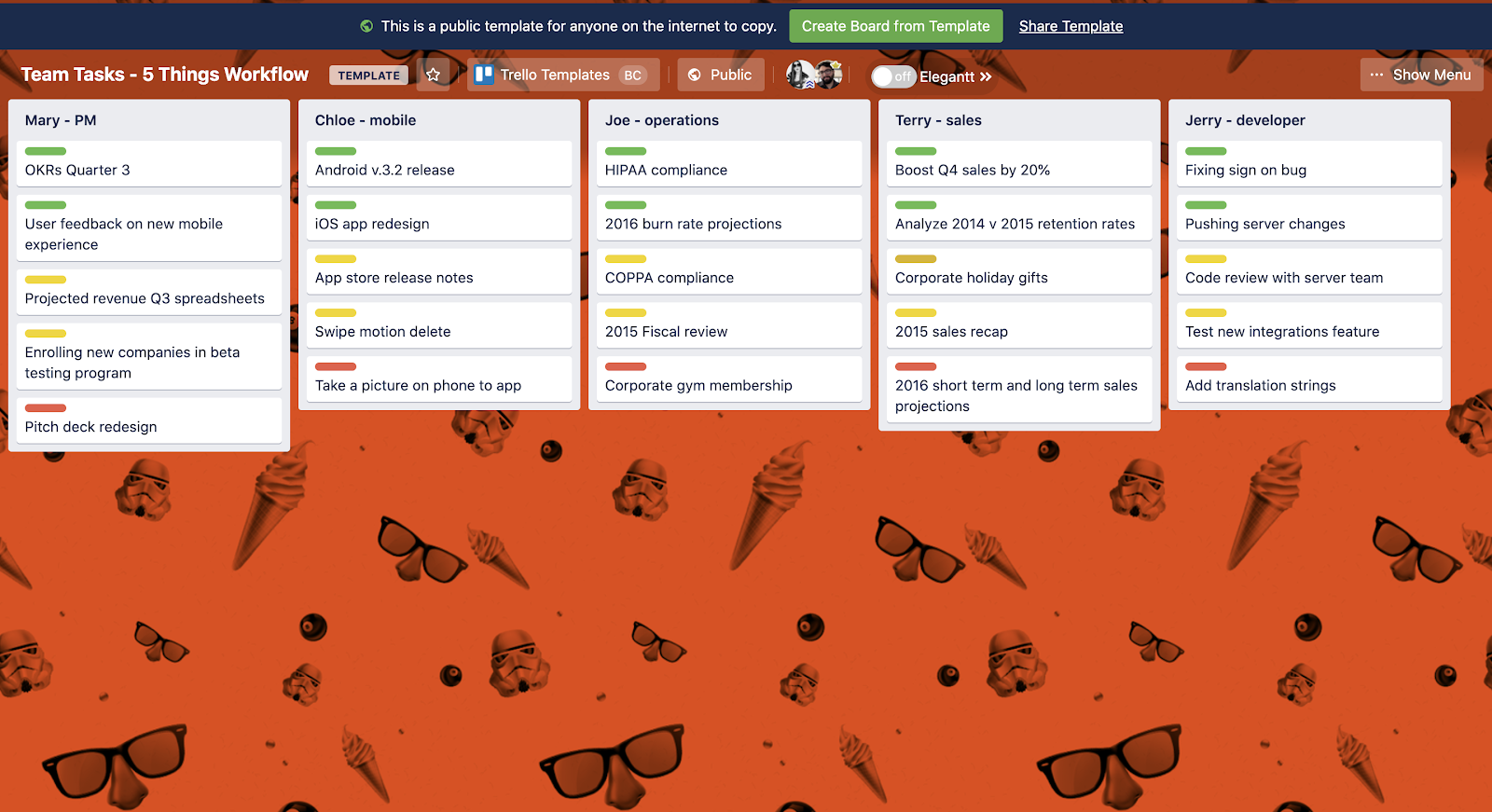 Trello Template Screenshot