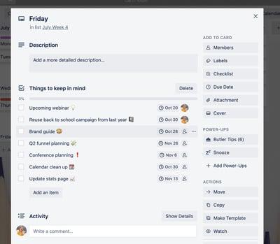 Trello Advanced Checklist Screenshot