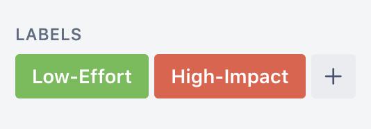 Etiquetas de Trello para priorizar tareas