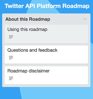 Twitter API Platform Roadmap