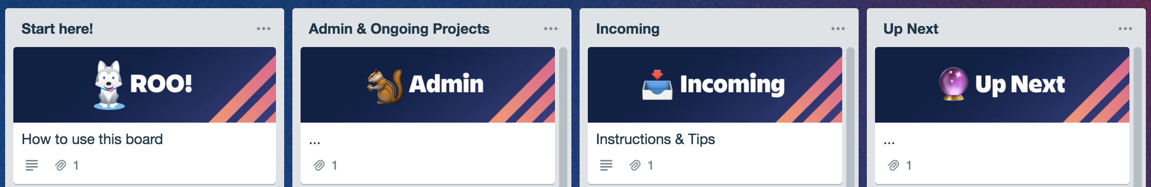 trello design card covers