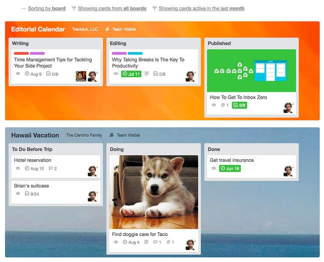 Sort Cards In Trello