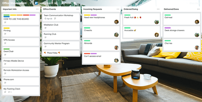 Office management for startups with Trello