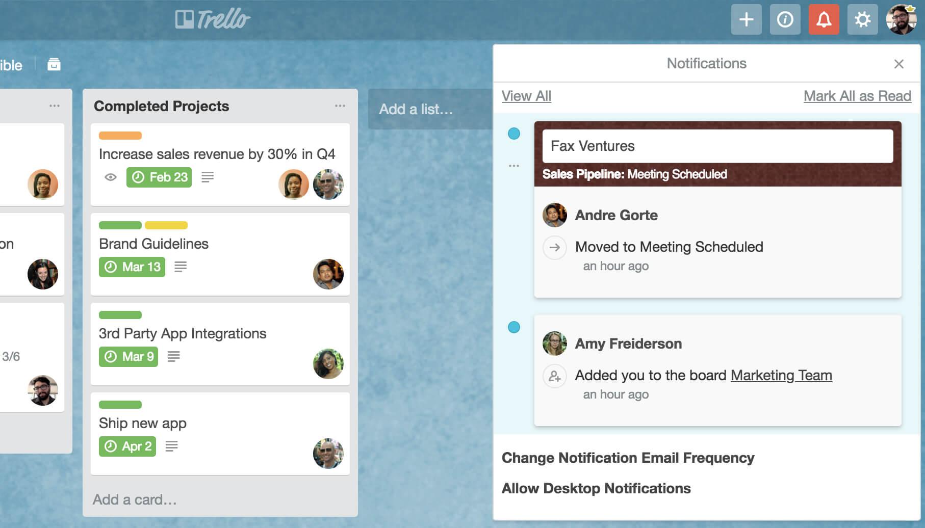 Filter Trello notifications by unread