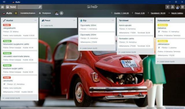 car maintenance trello board