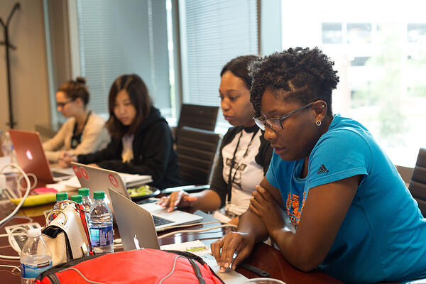 Image of women who code hackathon