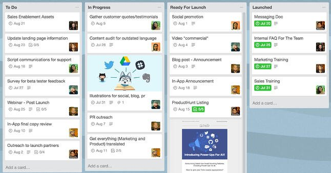 trello marketing campaign example