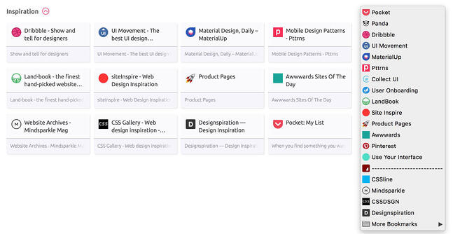 Managing bookmarks in your browser
