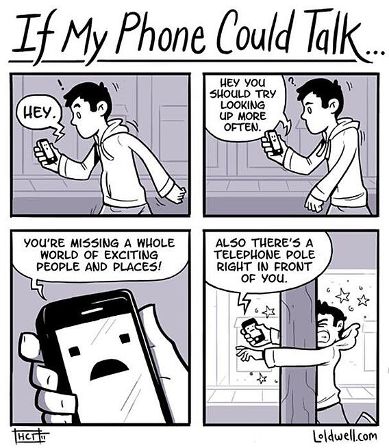 comic about smartphone addicition