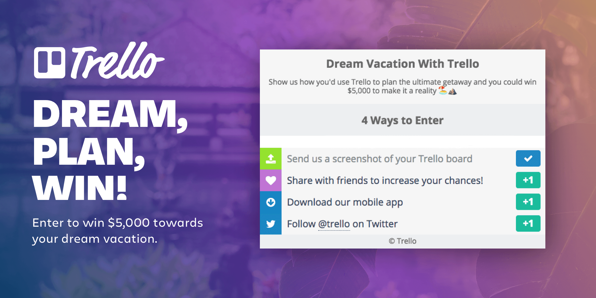 Enter Trello Travel contest