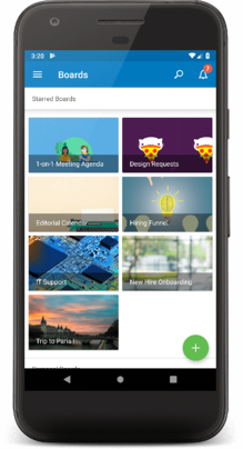 trello mobile - add a board