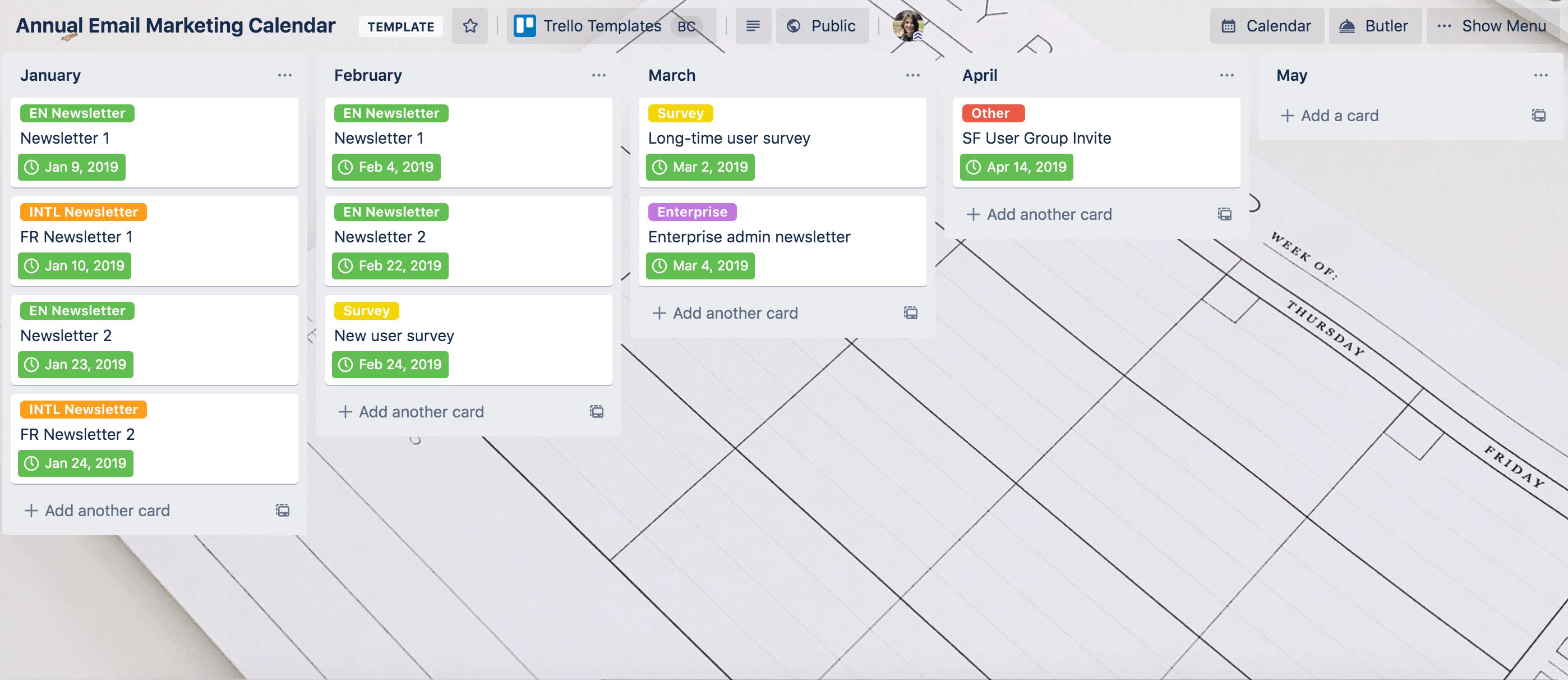 email-send-calendar-template