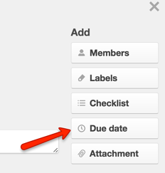 due date feature trello