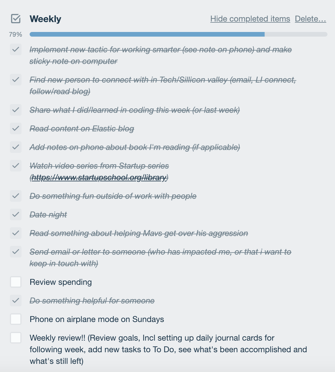 image regarding Daily Goals Checklist named How In direction of Create A Day-to-day Practice Tracker Within Trello (And Attain
