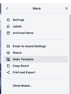 make template button in menu