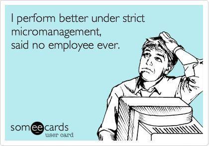 Micromanagement meme