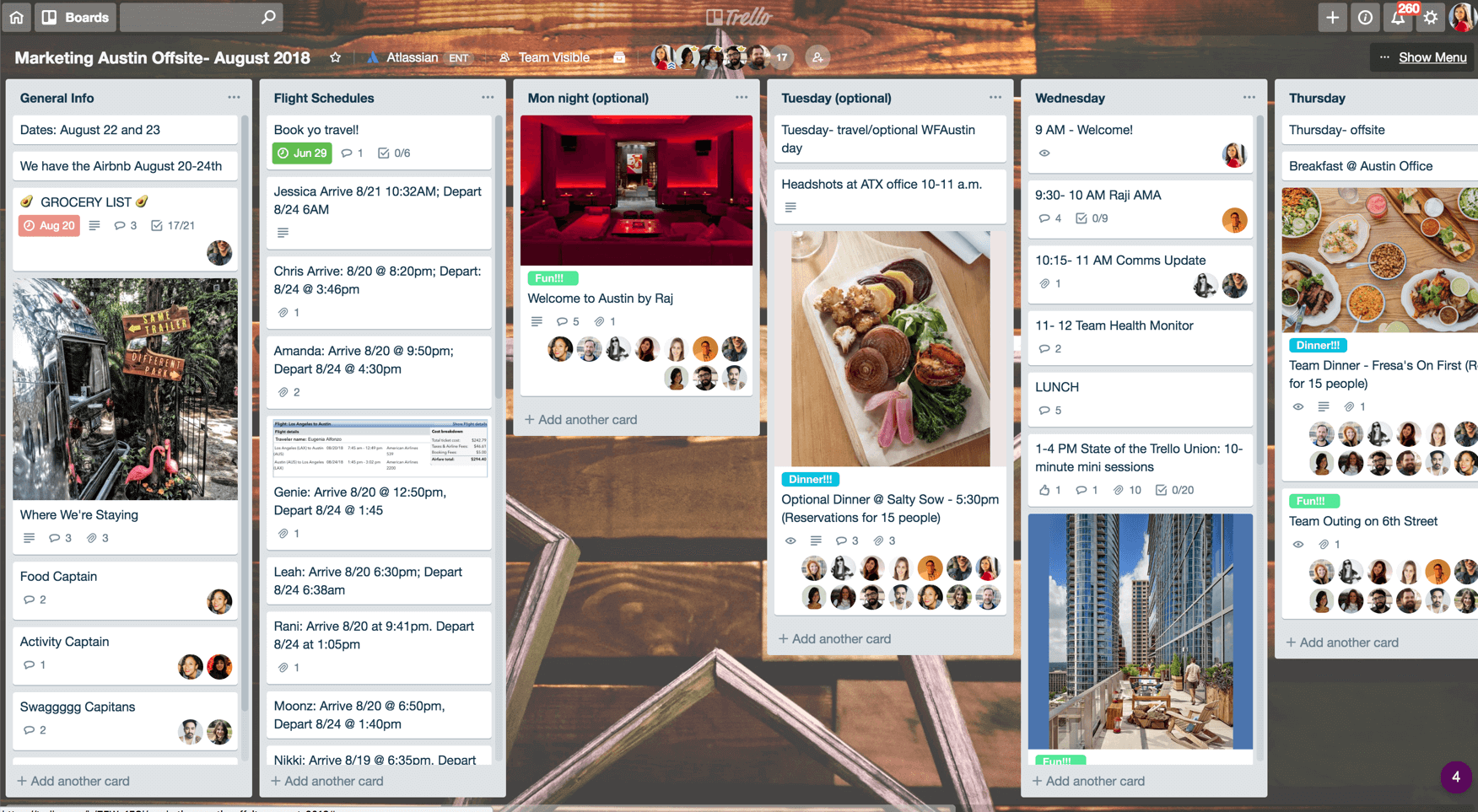 offsite trello board