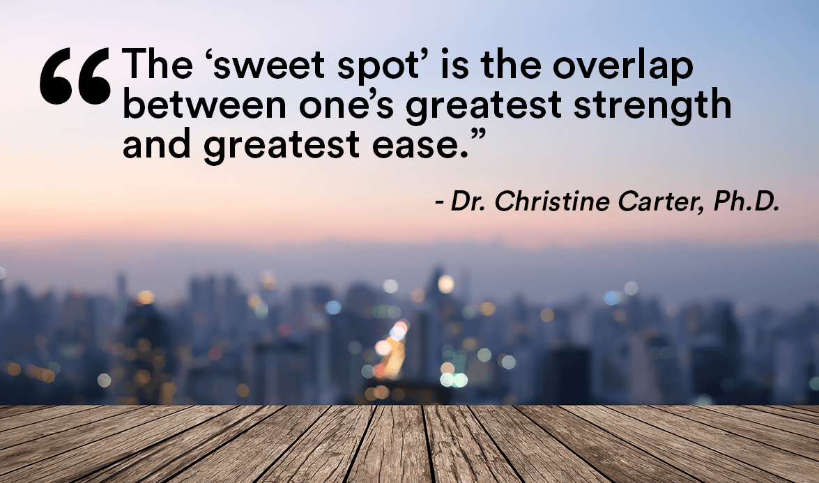 Dr. Christine Carter quote on productivity sweet spot