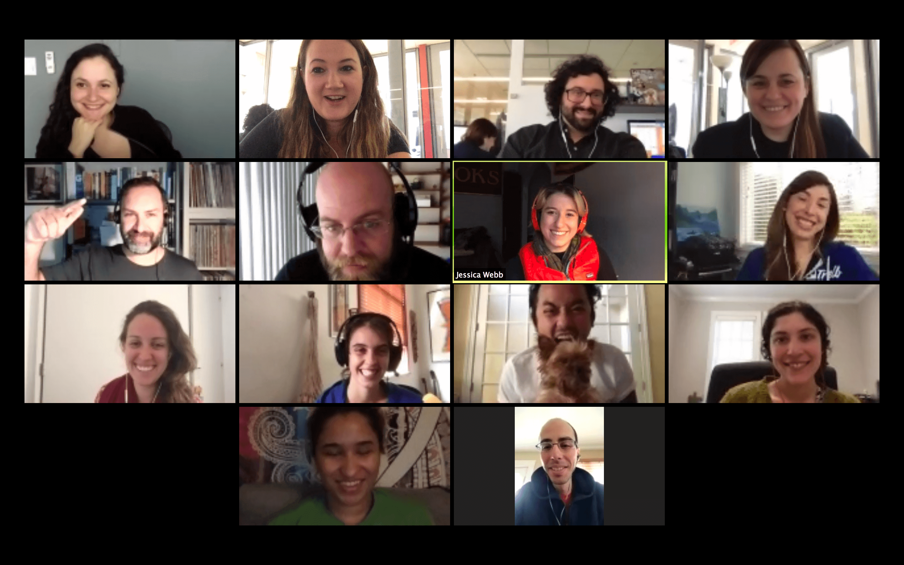 remote team video call