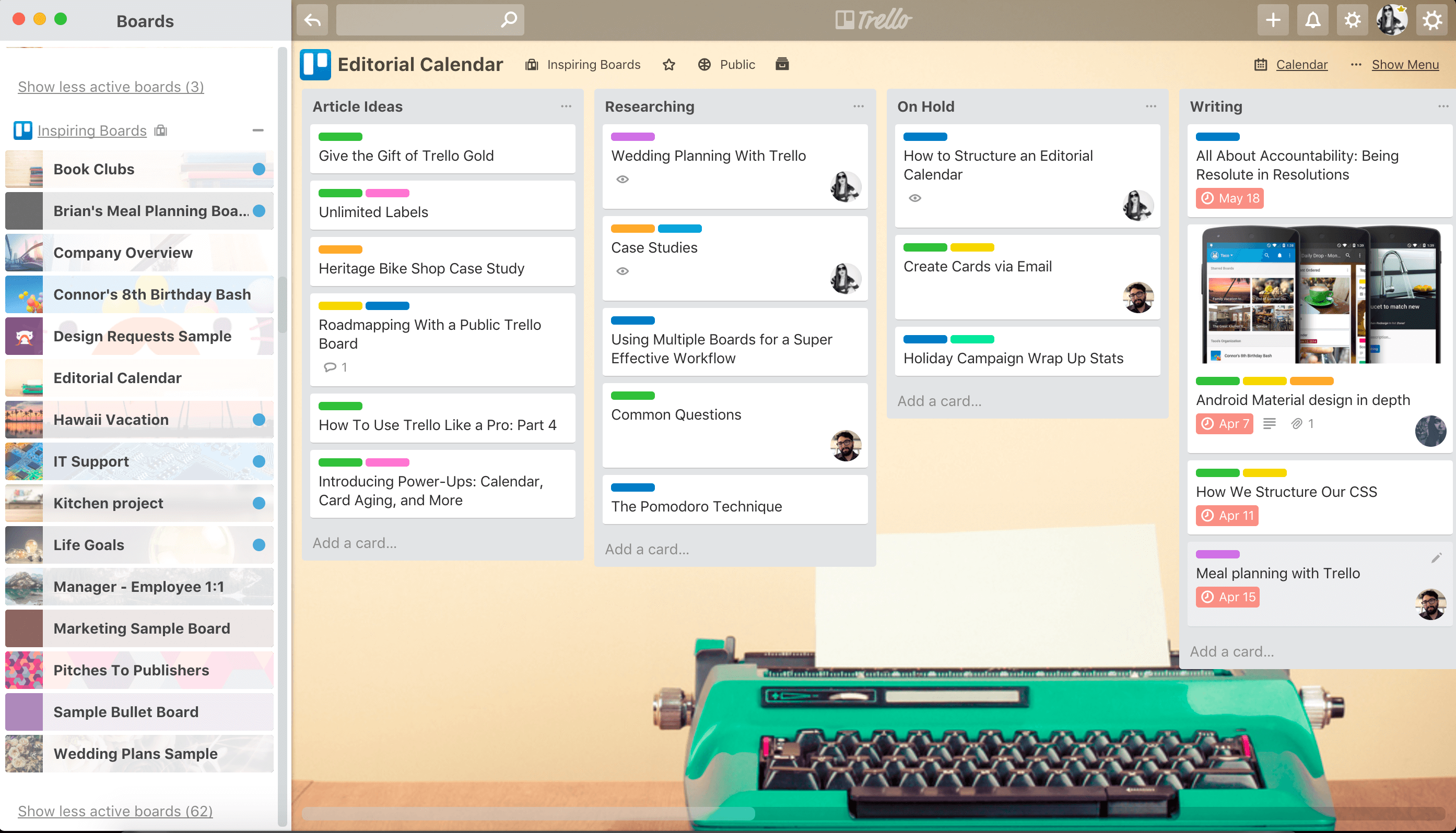 Trello desktop application priority boards