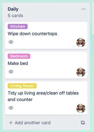 tag people on trello cards to assign tasks