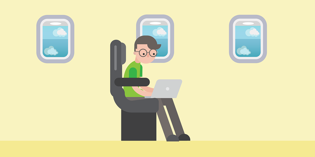 How to work more productively while flying