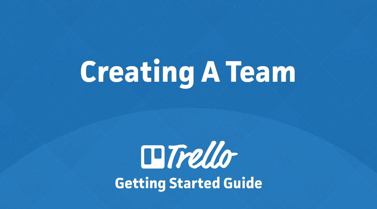 como criar um time no trello