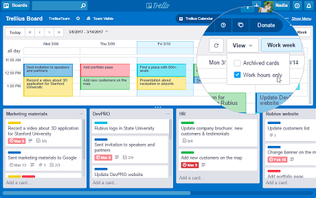 Trellius Calendar for Trello