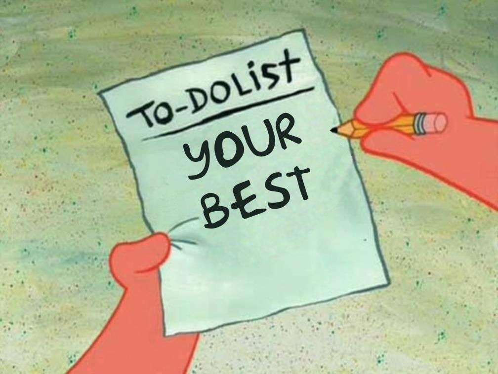 liste de tâches à faire
