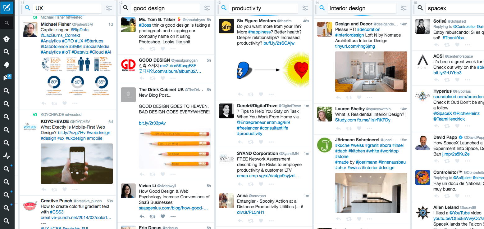 tweetdeck to manage social media overload