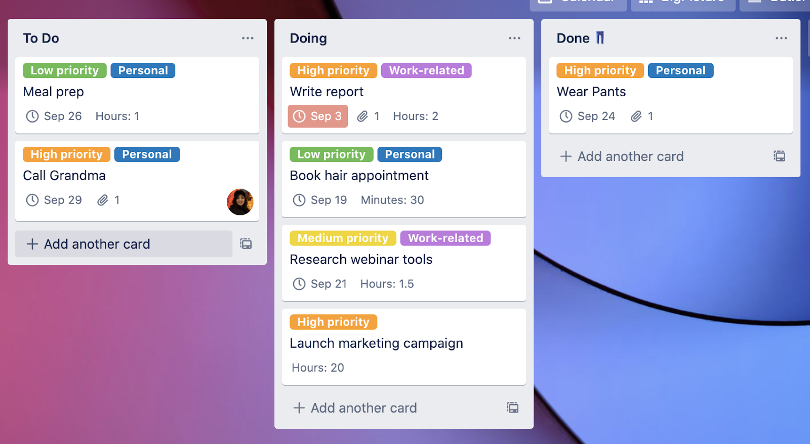 Trello Custom Field Screenshot