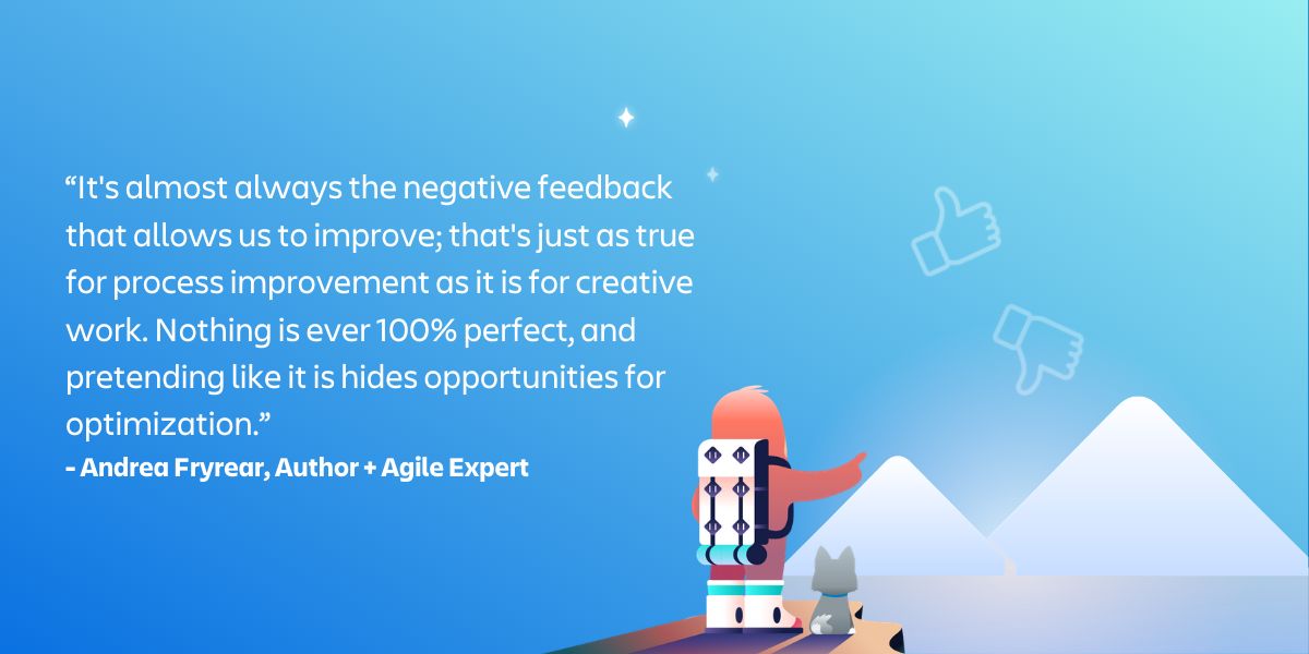 how to provide feedback according to an agile expert