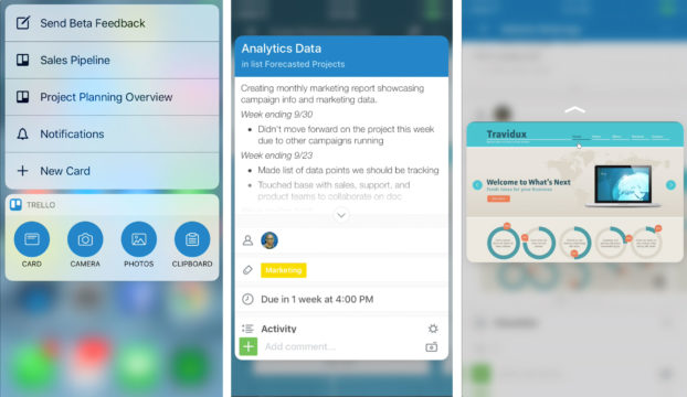 Trello for iOS 10: Stickers, Widgets, and 3D Touch Shortcuts