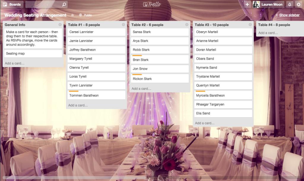 Say Yes To Less Stress Using Trello To Plan A Wedding