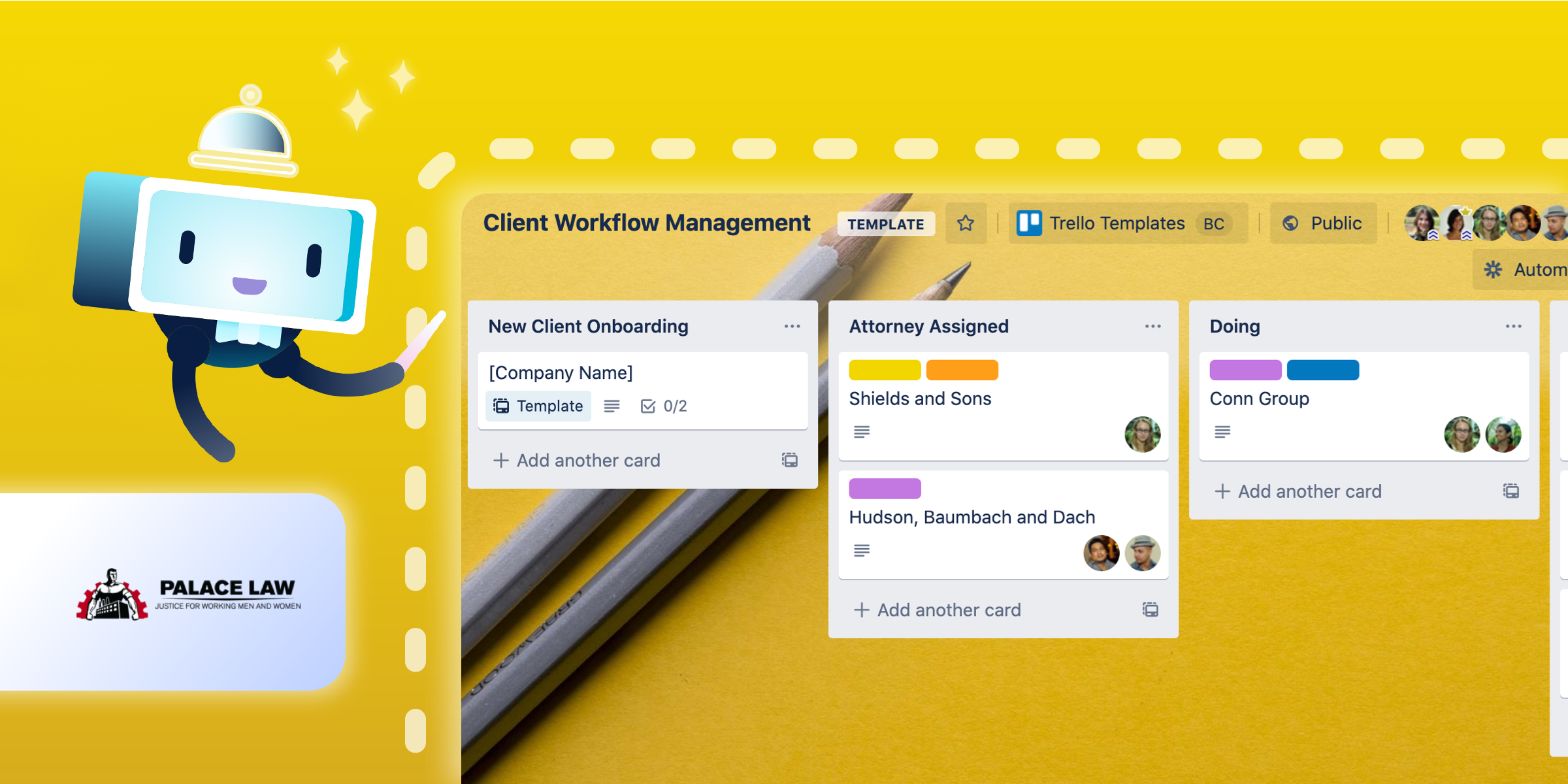 Client Management Trello Template