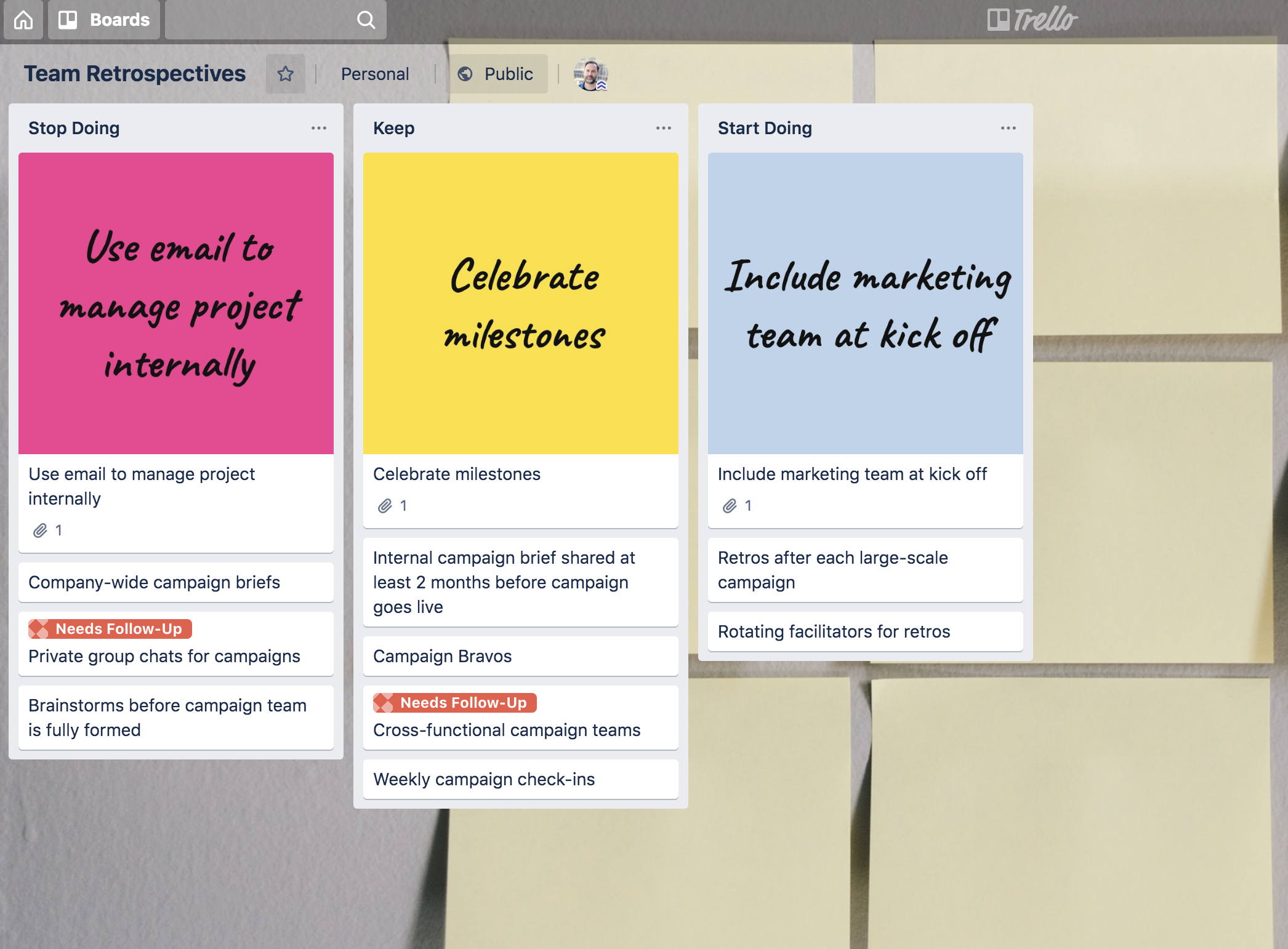 Post-It Notes into Trello board