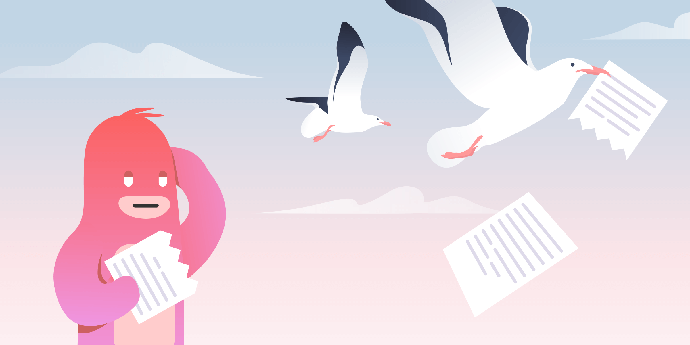 How to avoid unwanted negative feedback, like these seagulls swooping in on this character's work.