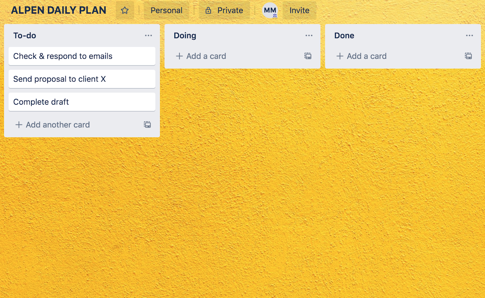 APLEN method in Trello